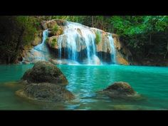 Relaxing music and video of idyllic waterfall, sleep music for relaxation and meditation with soothing music and calming nature sounds, relaxing with wate. Sleep Relaxation, Relaxation Meditation, Chakra Meditation, Mindfulness Meditation, Calming Music, Relaxing Music, Music Guitar, Piano Music, Relaxing Rain Sounds