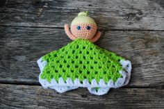 Tinker Bell Lovey Doll by KrafternoonGifts2 on Etsy https://www.etsy.com/listing/247764210/tinker-bell-lovey-doll