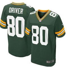 Shop for Official Mens Nike Green Bay Packers  80 Donald Driver Elite Team  Color Green fda8b86c5