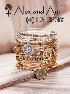 Alex and Ani bracelets are the new cool combination of bangles and charm bracelets. They come in gold, silver, and copper.