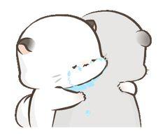 Super Soft Simao & Bamao 3 Cute Cartoon Drawings, Cute Cartoon Pictures, Cute Love Cartoons, Kawaii Drawings, Cute Images, Cute Love Gif, Cute Cat Gif, Goodnight Cute, Cute Cat Illustration