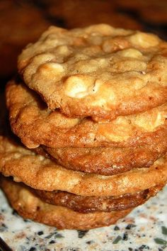 White Chocolate - Toffee Crunch Cookies