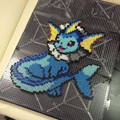Vaporeon (134) Pokemon perler beads by synistergiggles