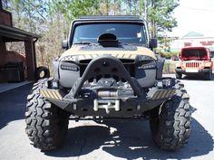 One mean looking Jeep Jeep Cj7, Jeep Wrangler Rubicon, Jeep Wrangler Unlimited, Jeep Pickup, Jeep Truck, Muddy Trucks, 4x4 Trucks, Diesel Trucks, Lifted Trucks