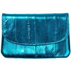 Becksondergaard Handy Rainbow Metallic Coin Purse - Blue Aster (€28) ❤ liked on Polyvore featuring bags, wallets, blue aster, eel skin wallet, snap wallet, rainbow bag, snap closure wallet and eel skin change purse