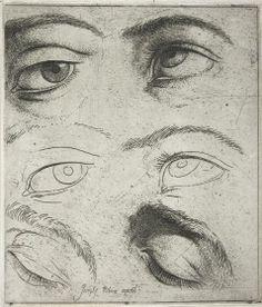 Jusepe de Ribera -  Studies of Eyes, c. 1622 | Harvard Art Museums