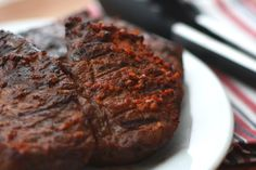 Barefeet In The Kitchen: Garlic and Paprika Rubbed Steaks - Reverse Seared
