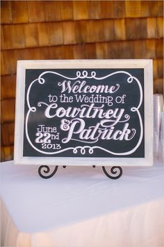 chalkboard wedding art