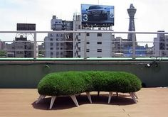 Unsustainable beauties - the cousin of the green wall - green furniture