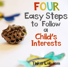 Four easy steps to follow a child's interests.