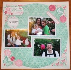 Spring Fling Paper layout with the Teresa Collins 12x12 paper.