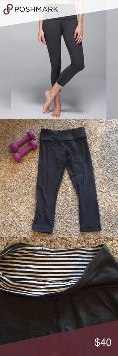 1e9ce5fc6d186 Wunder Under Lululemon size 4 Grey Wonder Under Style Cotton lululemon  athletica Pants Leggings