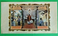 French Vintage Catholic Print of a Catholic Boy's life Religious  A1220 Boys Life, Vintage Fonts, Catholic School, Crucifix, French Vintage, Christianity, Religion, Ebay, Religious Education