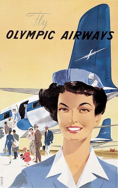 The Olympic Airways Retro Airline, Retro Ads, Vintage Ads, Vintage Photos, Vintage Airline, Lightroom, Photoshop, Olympic Airlines, Jets