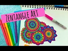 Dibuja Zentangle Art conmigo! Si haces un dibujo y me lo quieres compartir usa el hashtag #zentanglecondani Los quiero muchisimo ♡ Playlist para dibujar: Fly...