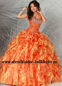 Cinderella Abendkleid Ballkleid Online in Orange