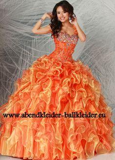 Cinderella Abendkleid Ballkleid Online in Orange