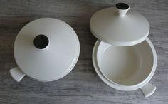 Two Vtg Fris Holland Covered Soup Bowls Lid & Handle Mid Century Design Serving #Fris $29.99