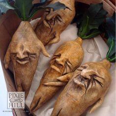 Hand Sculpted Gumpy Mandrake Root by PixieHillStudio