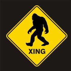 sasquatch art | Bigfoot X-ing shirt | Sasquatch shirt | Squatch hunting | funny shirt