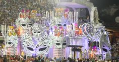 "One of Salguiero's samba school float, themed around ""fame"""