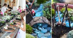 Magical And Best Plants DIY Fairy Garden Ideas Magische und beste Pflanzen DIY Fairy Garden Idea Fairy Garden Plants, Fairy Garden Houses, Gnome Garden, Fairies Garden, Garden Water, Flowers Garden, Fairy Gardening, Garden Pond, Garden Beds