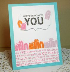 Happy Birthday To You Card - March 2013 Papertrey Ink release - by Melissa Bickford