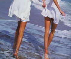 """babyvintagee: """" Krissy and Niki Taylor, 1992 by Antoine Verglas """""""