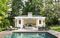 Bay Area Shingle Style Pool House