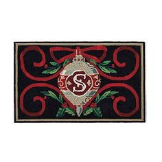 Heirloom Ornament Monogrammed Entry Mat -