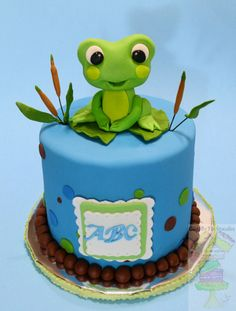 Froggy Frog Baby Shower Cake