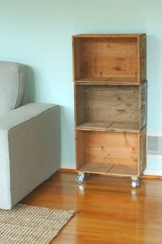 Bookcase from old crates