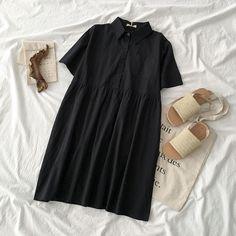 Korea Fashion, Asian Fashion, My Outfit, Dress Outfits, Dresses, Teen Fashion Outfits, Womens Fashion, Frock Fashion, Cute Comfy Outfits