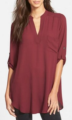 Chic red tunic - on sale for $25!