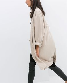 LOOSE-FIT TRENCH COAT-Outerwear-WOMAN | ZARA Spain