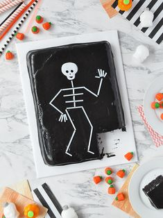 Straw Skeleton Cake