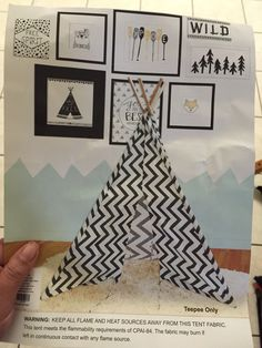 Chevron tent teepee from hobby lobby $100~ Such a cute reading nook for a classroom!!