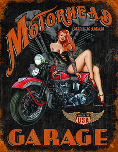 """Vintage Retro Metal Tin Sign Poster Plaque Wall Home Decor """"Garage , Motor Oil"""" Motorcycle Posters, Motorcycle Art, Bike Art, Motorcycle Garage, Pin Up Vintage, Vintage Metal Signs, Vintage Style, Retro Vintage, Vintage Decor"""