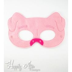 Little Pig 1 Mask ITH Embroidery Design