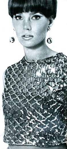 Christmas top with thousands of silver sequins, 1965