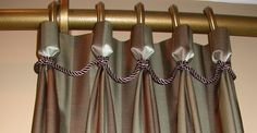 Matching braid finishes these goblet pleats perfectly.