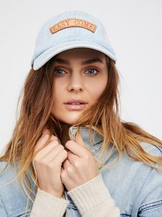 1bbf46546e3 Understated Patched Denim Baseball Hat