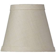 Cream Linen Blend Hardback Shade (Clip-On) - Style # Cream Lamps, Light Shades, Burlap Lampshade, Burlap Fabric, Candlestick Lamps, Candlesticks, Make A Lamp, Creme Color