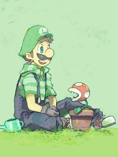 Young Luigi? XD Haha, I guess mustaches start young! :D