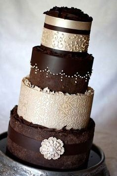 Brown Luxury Wedding Cake Idea!  Brown Wedding | Brown Bridal Earrings | Brown Wedding Jewelry | Spring wedding | Spring inspo | Brown | Spring wedding ideas | Spring wedding inspo | Spring wedding mood board | Spring wedding flowers | Spring wedding formal | Spring wedding outdoors | Inspirational | Beautiful | Decor | Makeup | Bride | Color Scheme | Tree | Flowers | Wedding Table | Decor | Inspiration | Great View | Picture Perfect | Cute | Candles | Table Centerpiece | Brown Themed…