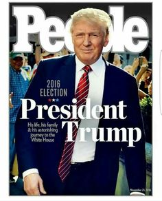 ~J PRESIDENT TRUMP Love this picture of my President! ❤️Not fond of the magazine though...