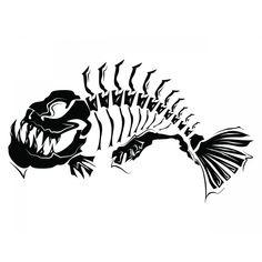 fish bone, Hand Painted, Black, Line PNG Image Silhouette Tattoos, Animal Silhouette, Skull Silhouette, Fish Drawings, Art Drawings, Arte Punk, Fish Skeleton, Fish Art, Pirana Fish