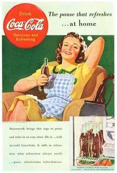 La pubblicità di Coca cola nel 1950. Recensita da: www.setadv.com  #agenziagrafica #webmarketing #webdesign