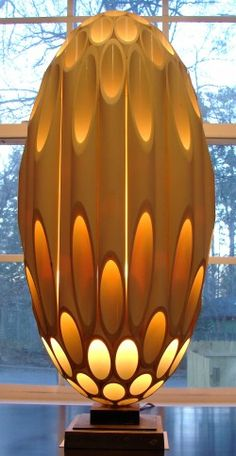 Floor lamp that was featured in Star Trek and other movies.
