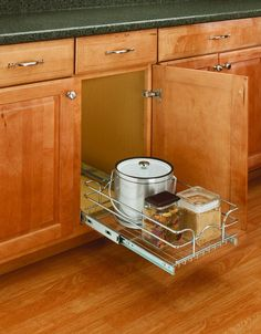 View the Rev-A-Shelf 5WB1-1220 5WB Series 12 x 20 Inch Pullout Wire Basket at PullsDirect.com.